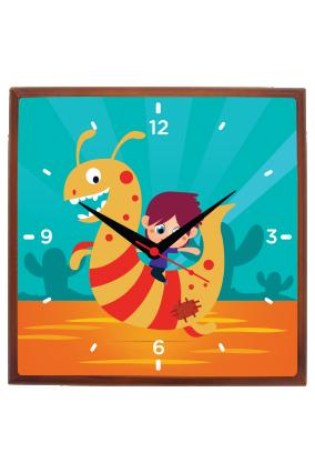 Child Love Square Wall Clock