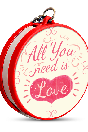 All You Need Is Love Keychain with Data Cable