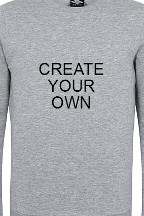 Promotional Umbro - Create Your Own Gray Sweatshirt