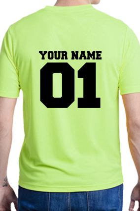 Your Name Sportswear Drifit Round Neck Lime T-Shirt