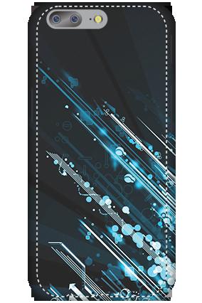 Premium 3D-OnePlus 5 Blue bright Lightning Mobile Cover