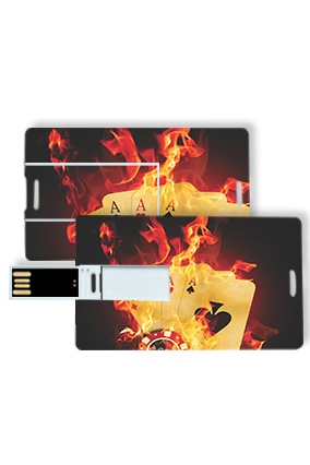 Blazing Playing Cards Credit Card Pen Drive