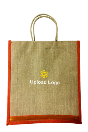 Upload Logo Jute Bottle Bag 04