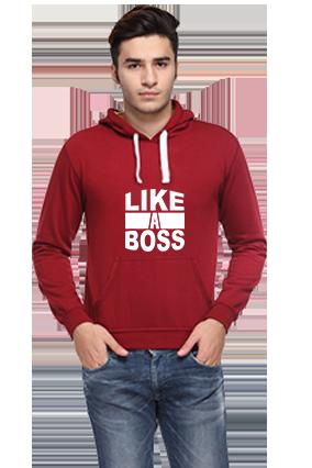 Business Like A Boss Full Sleeves Maroon Hoodie
