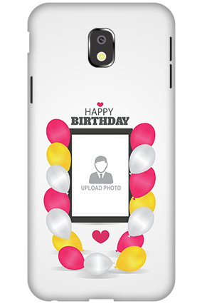Personalized 3D-Samsung Galaxy J3 (2017) Birthday Greetings Mobile Cover