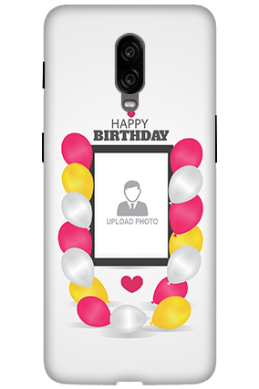 3D - Oneplus 6T Birthday Greetings Mobile Cover