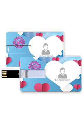 Clouds in Sky Personalized Valentine Credit Card Pen Drive