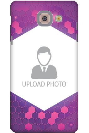 3D-Samsung Galaxy J7 Max Purple Hexagonal Customized Mobile Cover