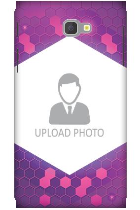 3D-Samsung Galaxy J7 Prime Purple Hexagonal Customized Mobile Cover