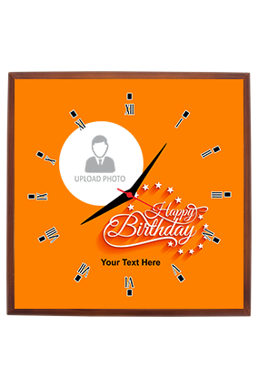 Trendy and Designer Square Wall Clock For Birthday