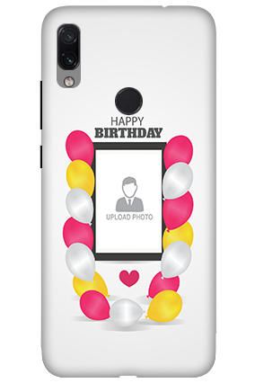 3D-Xiaomi Redmi Note 7 Birthday Greetings Mobile Cover