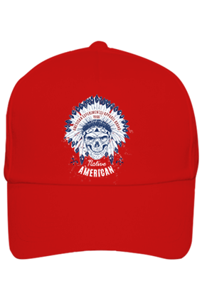 American Designer Cotton Red Cap