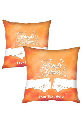 Friends Forever Personalized Friendship Cushion Cover