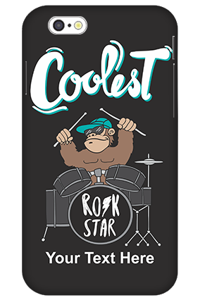 3D-iPhone 6 Coolest Rockstar Customized Plastic Mobile Cover