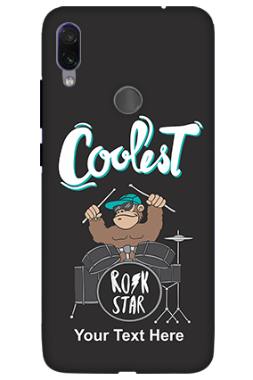 3D-Coolest Rockstar Customized Xiaomi Redmi Note 7 Pro Mobile Phone Covers