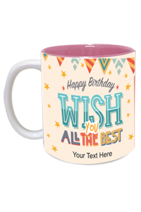 Beautiful Decorative Designer Birthday Inside Pink Mug