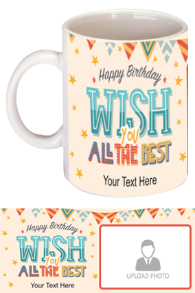 Beautiful Decorative Designer Birthday Bone China Mug