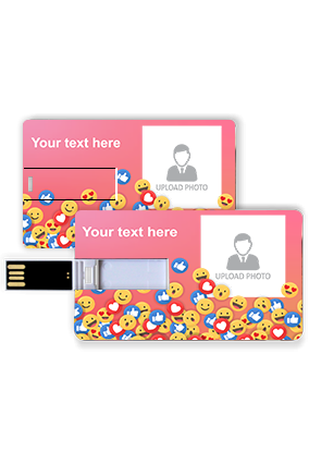 Smileys Personalized Credit Card Pen Drive