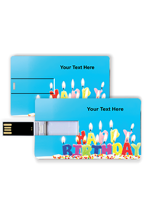 Colorful Candles Customized Birthday Credit Card Pen Drive