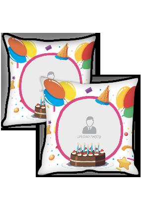 Birthday Celebration Personalized Cushion Cover