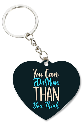 Do More Than You Think Heart-Shaped Key Chain