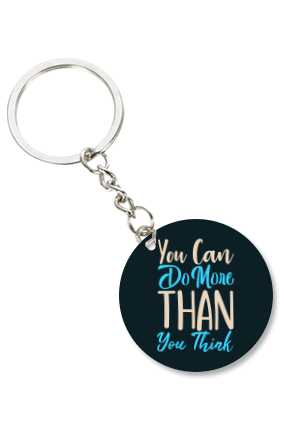 Do More Than You Think Round Key Chain