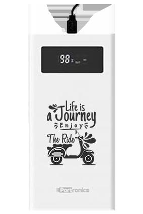Life is Journey Customized Jumbo 20000mAh Portronics Power Bank POR-783 White