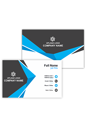 Blue and Black Abstract Business Visiting Card