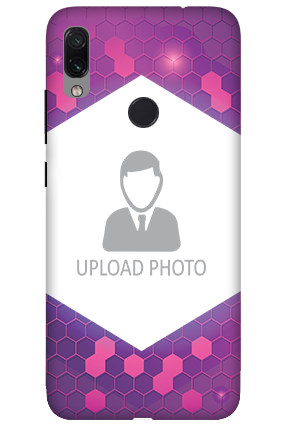 3D-Xiaomi Redmi Note 7 Purple Hexagonal Customized Mobile Cover