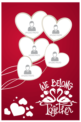 We Belong Together Valentine's Day Portrait Collage