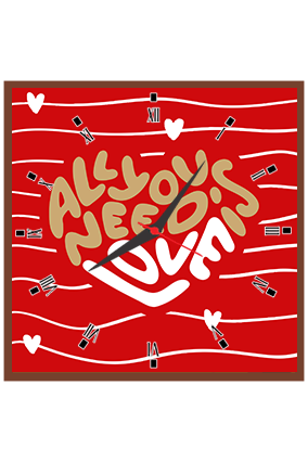 All Need Love Wall Square Clock