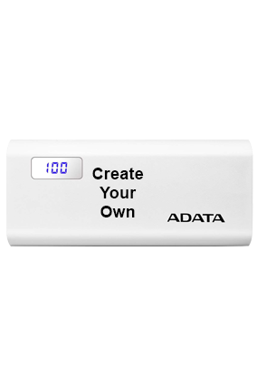 Design Your Own 12500mAh Adata Power Bank White