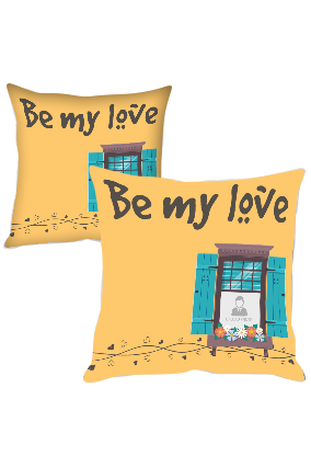 Be My Love Printed Cushion Cover