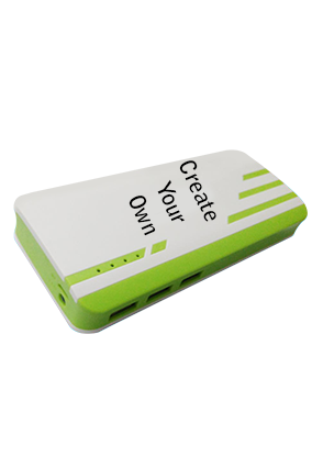 Create Your Own 11000mAh Power Bank White & Green