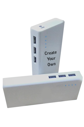 Create Your Own 11000mAh Power Bank White