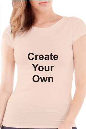 Create Your Own Girls Light Peach T-Shirt