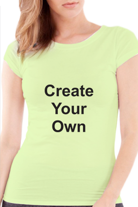 Create Your Own Girls Light Green T-Shirt