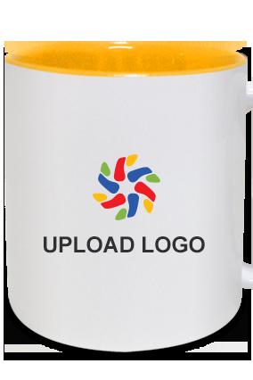 Upload Logo Inside Yellow Mug