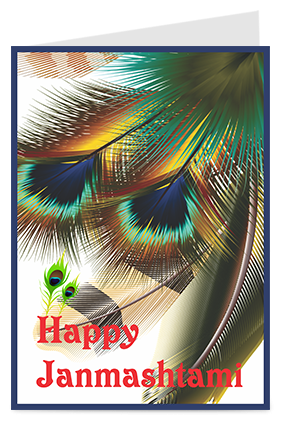 Amazing Happy Janmashtami Greeting Card