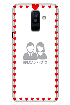 3D - Samsung Galaxy A6 Plus Heart Valentine's Day Mobile Cover