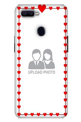 Custom 3D-Oppo F9 Heart Valentine'S Day Mobile Cover