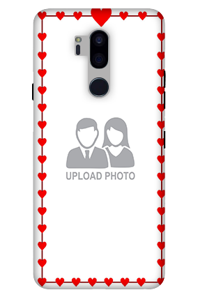 3D-LG G7 Plus ThinQ Heart Valentine'S Day Mobile Cover