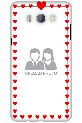 Custom 3D-Samsung Galaxy J7 New Edition 2016 Heart Valentine's Day Mobile Cover