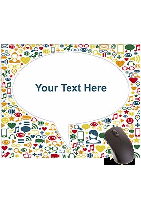 Emoji Chat Rectangular Mouse Pad
