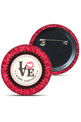 Designer Love Round Badge