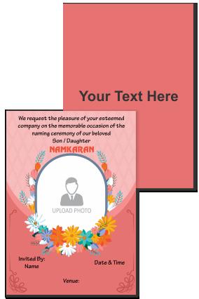 Personalized Colorful Flowers Namkaran Invitation Card