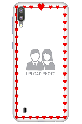 3D-Samsung Galaxy M10 Heart Valentine's Day Mobile Covers