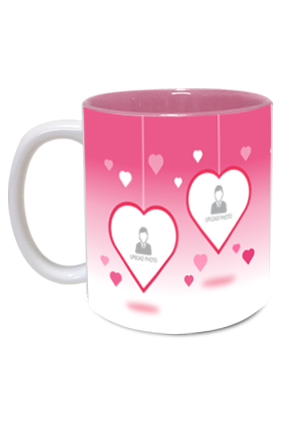 We are Happy Family Exclusive Inside Pink Mug