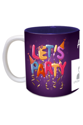 Lets Party Personalized Birthday Inside Blue Mug
