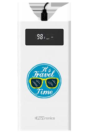 It is Travel Time Customized Jumbo 20000mAh Portronics Power Bank POR-783 White